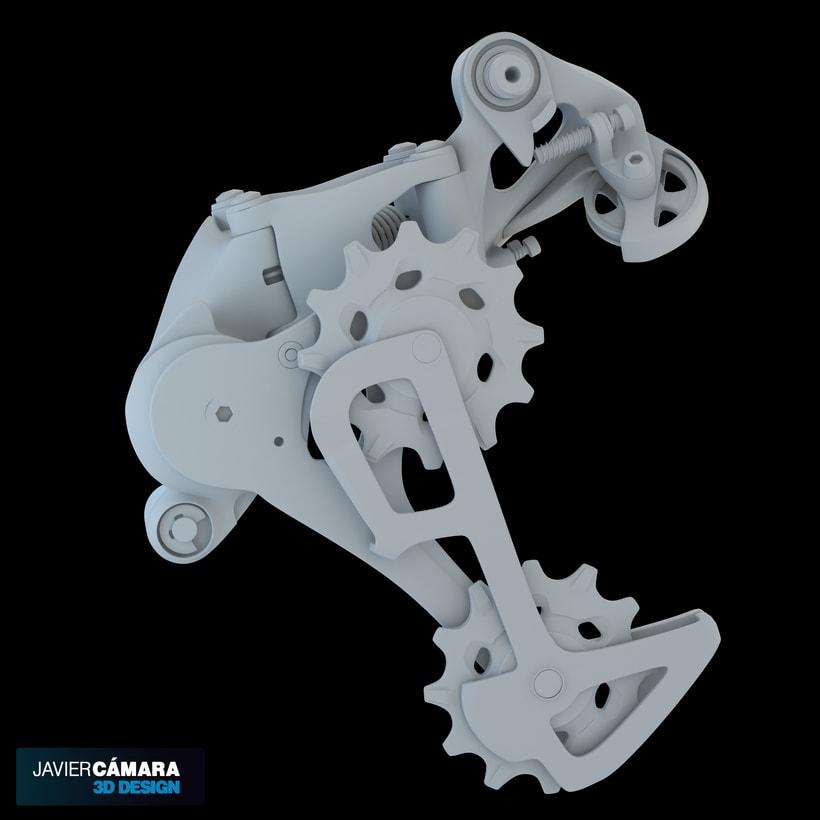 3D - SRAM X01 Rear Derailleur 11-Speed 6