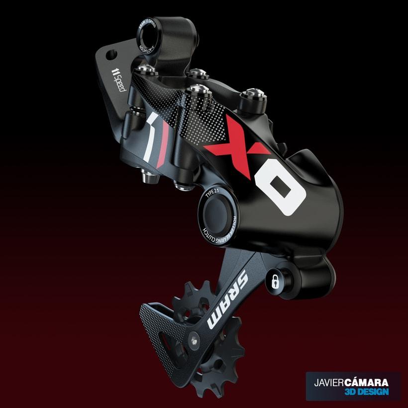 3D - SRAM X01 Rear Derailleur 11-Speed 9