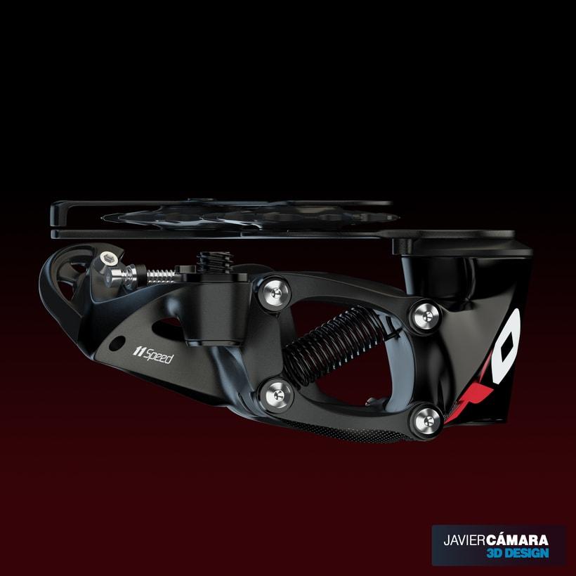 3D - SRAM X01 Rear Derailleur 11-Speed 14