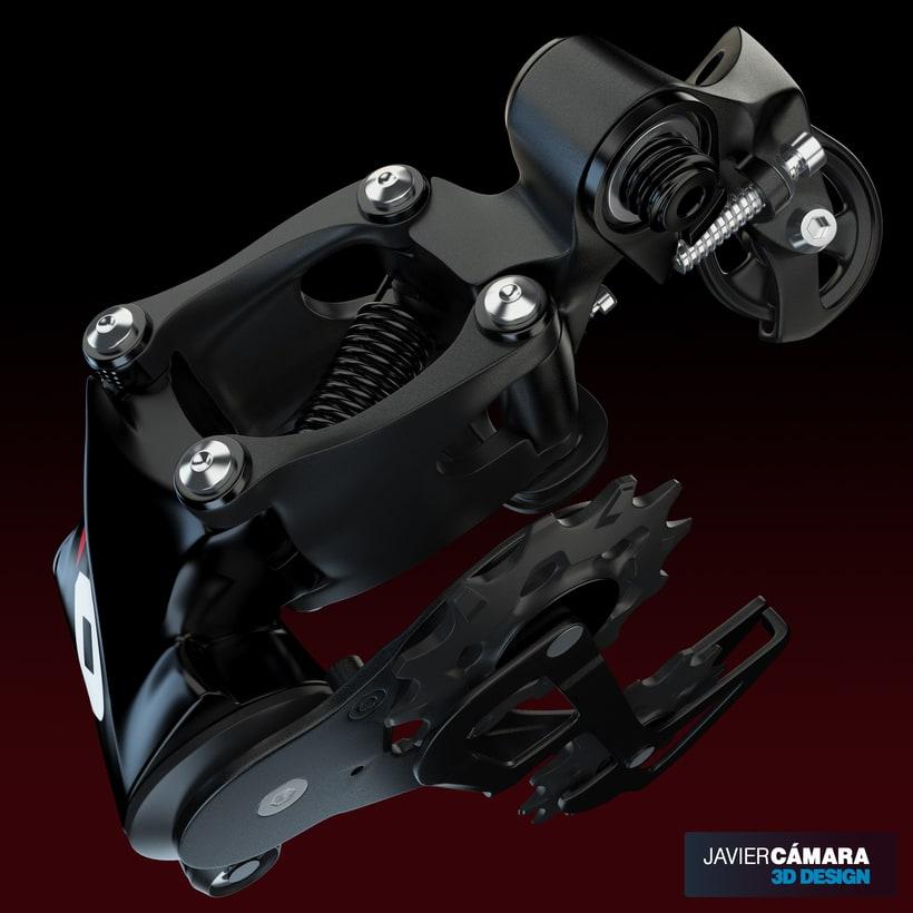 3D - SRAM X01 Rear Derailleur 11-Speed 11