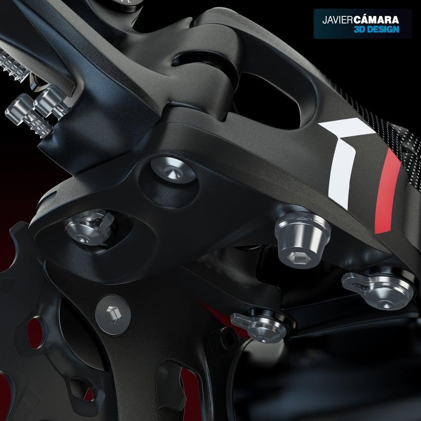 3D - SRAM X01 Rear Derailleur 11-Speed 12