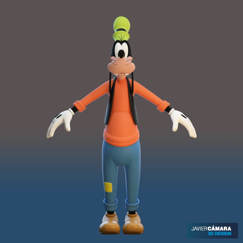 3D character modeling - Goofy  4