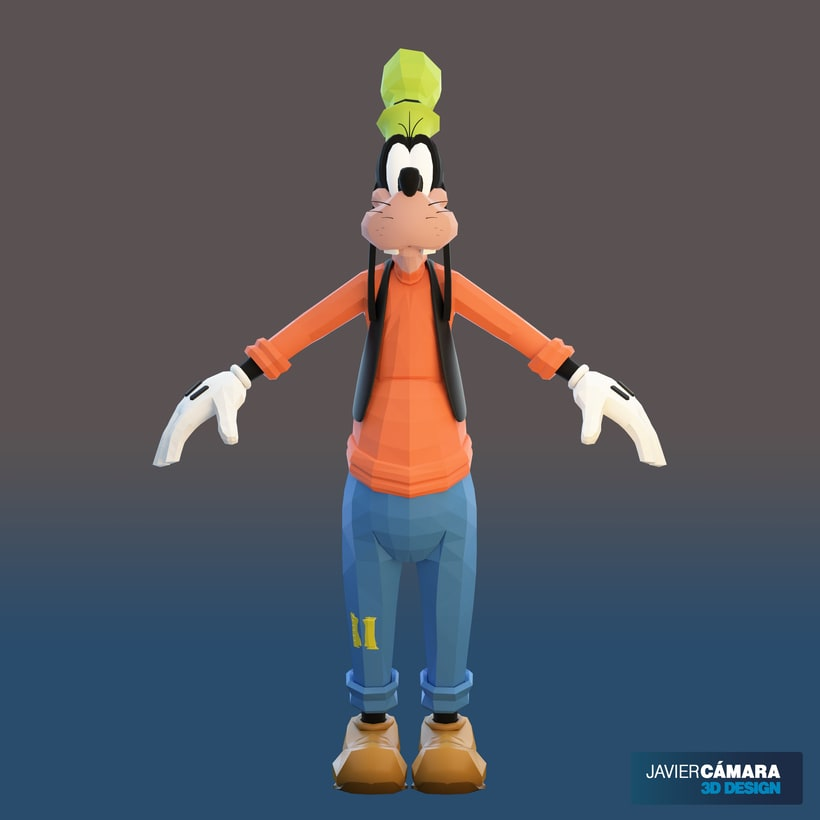 3D character modeling - Goofy  3