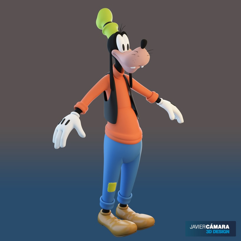 3D character modeling - Goofy  9