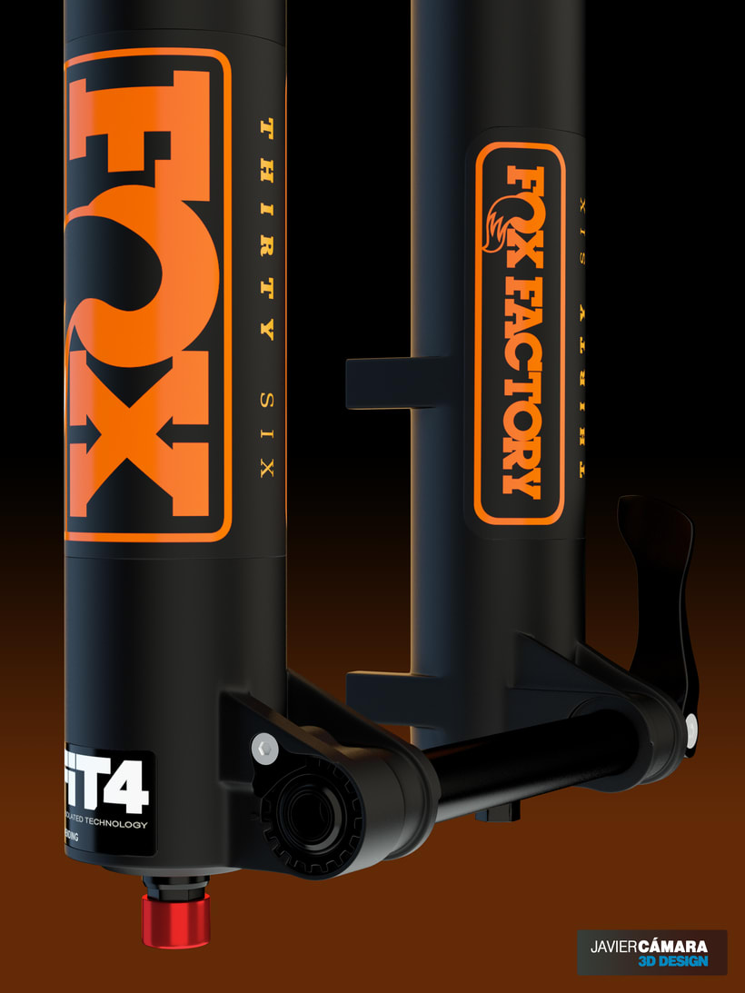 3D - Bike Suspension Fox 36 10