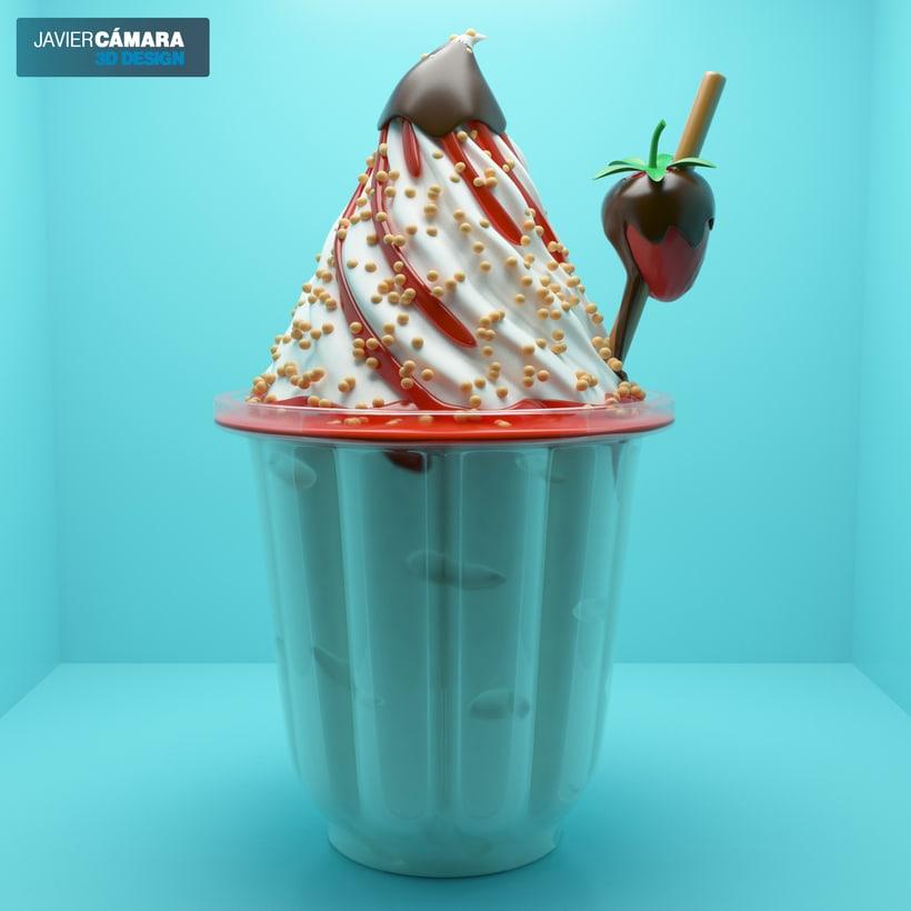 3D Ice Cream modeling 2