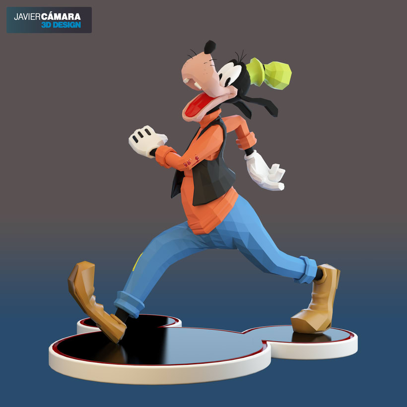3D character modeling - Goofy  14