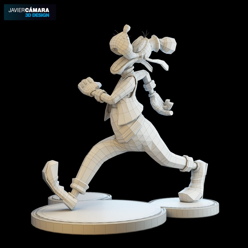 3D character modeling - Goofy  12