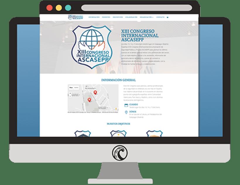 Web y diseños para el XIII Congreso ASCASEPP 3