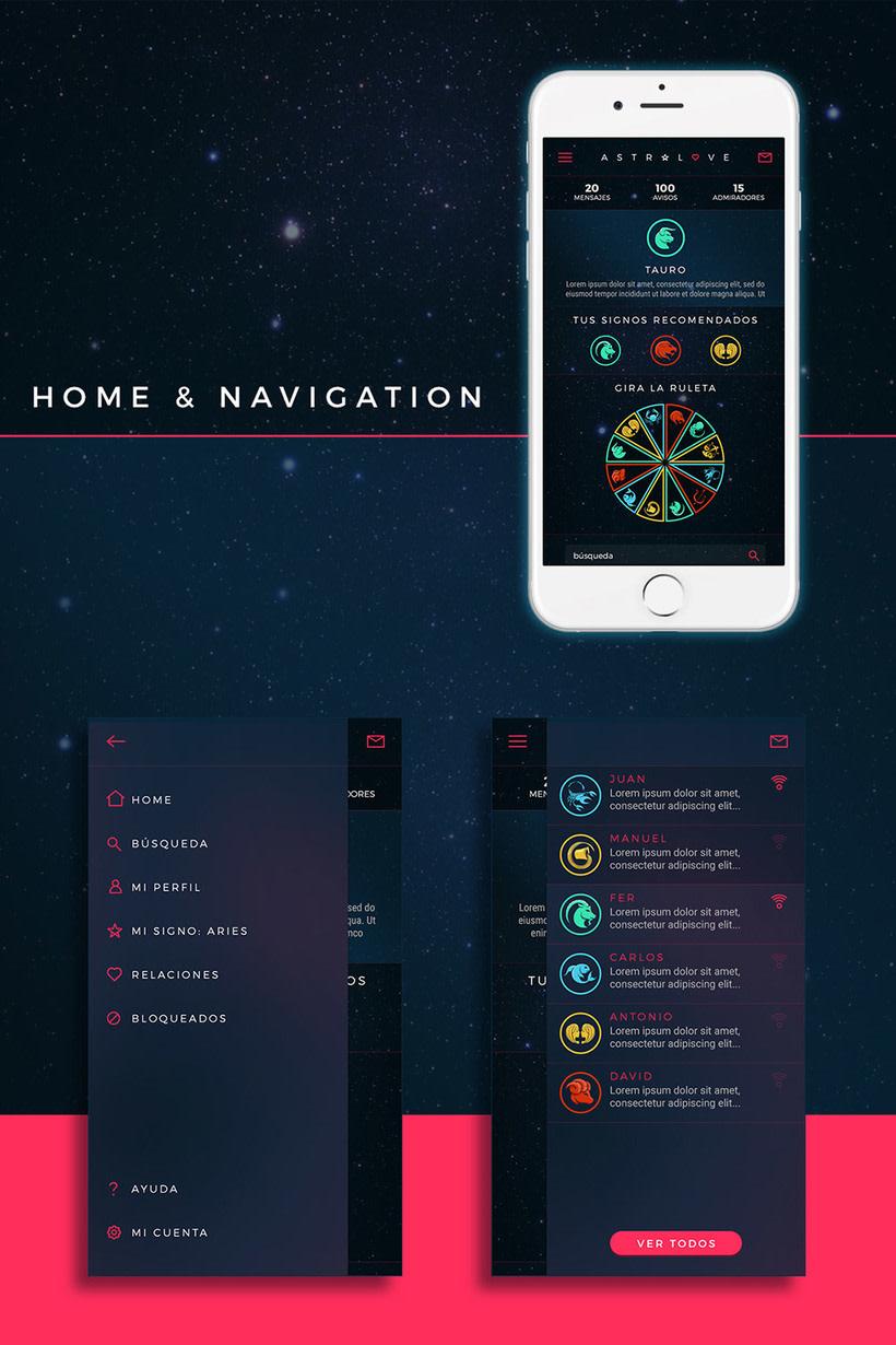 Astrolove // Branding y diseño de la app 4