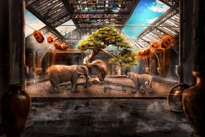 The Abandoned Tree, Mi Proyecto del curso: Secretos del fotomontaje y el retoque creativo 0