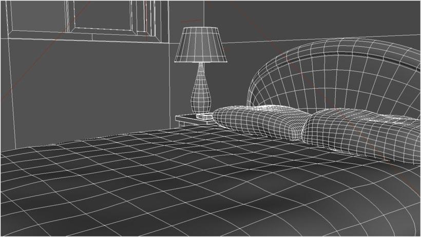 Habitacion. Diseño Maya. Render Mental Ray. 2