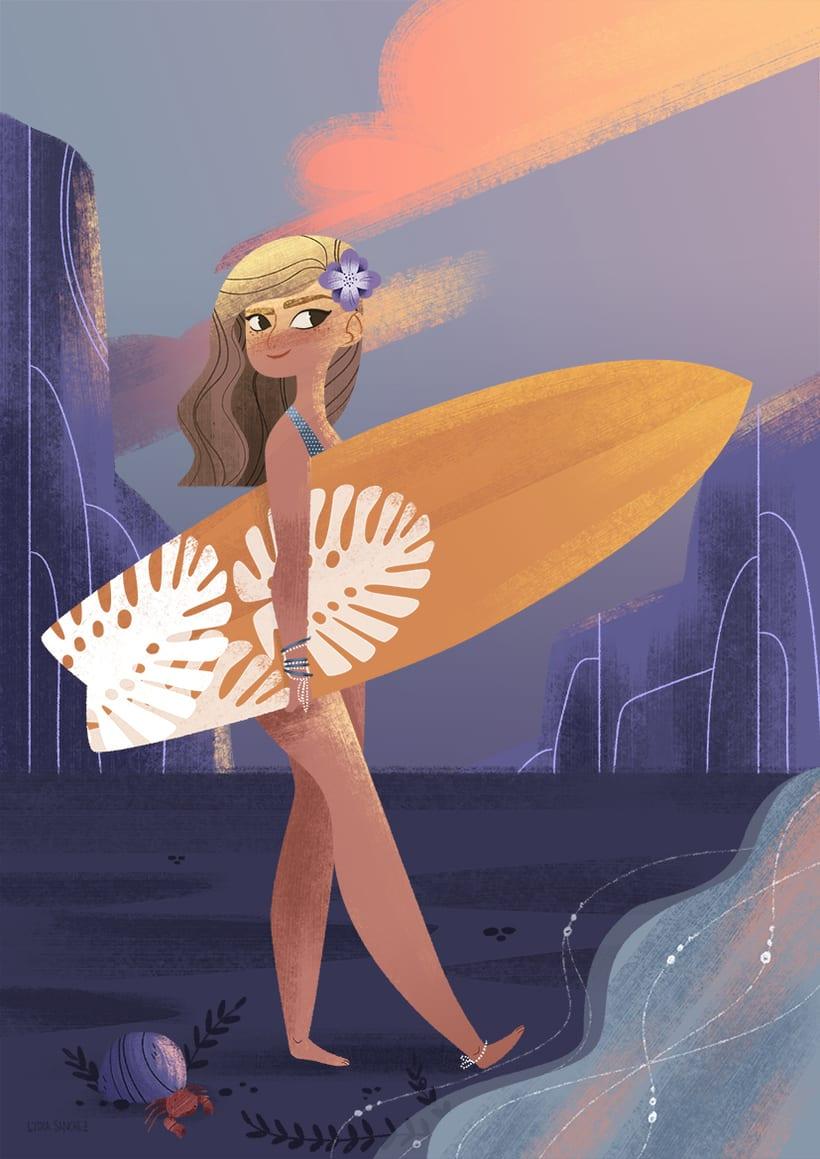 Surfer Girl -1
