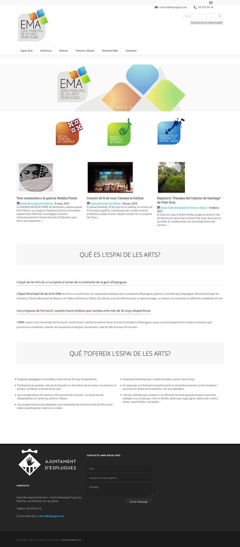 Espai Municipal de les Art d'Esplugues    Website 2
