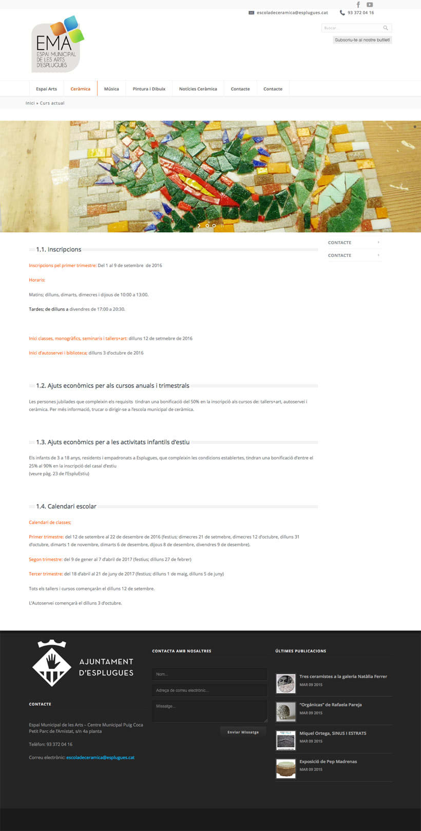 Espai Municipal de les Art d'Esplugues    Website 4