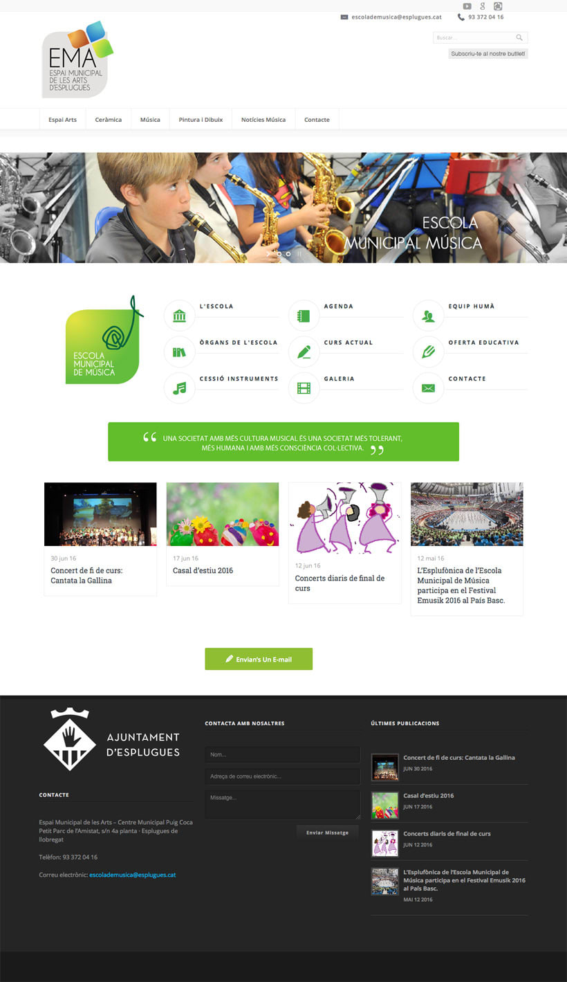 Espai Municipal de les Art d'Esplugues    Website 6
