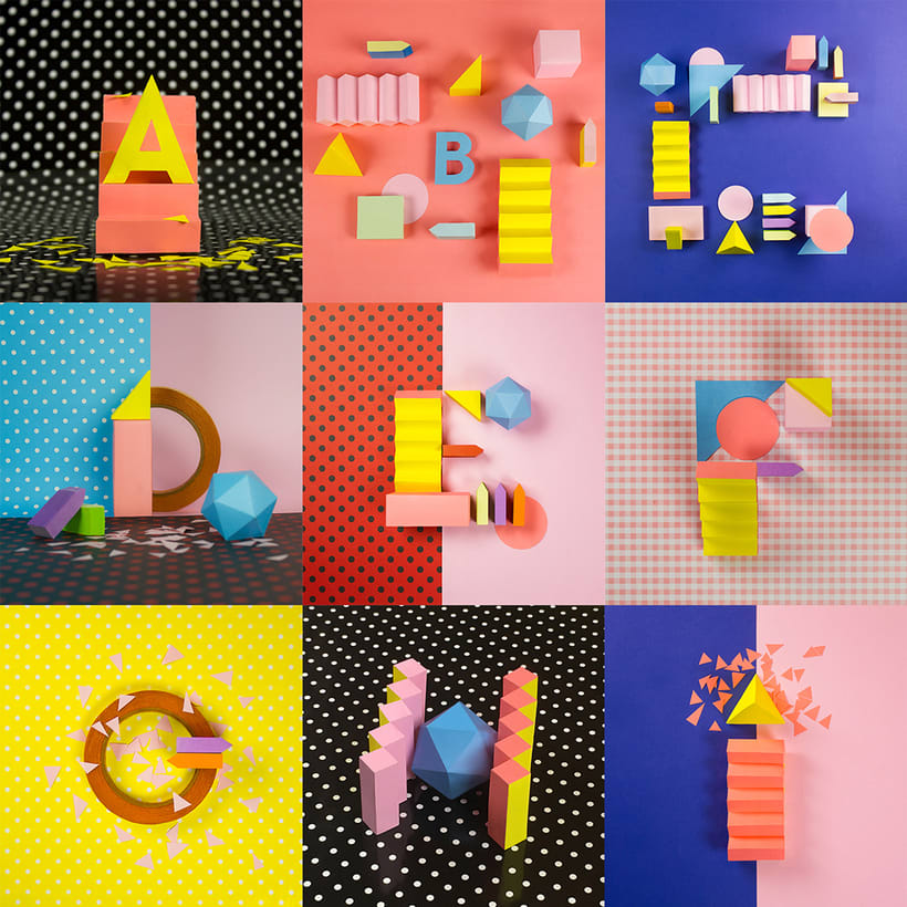 Colorful Paper Craft Alphabet 0
