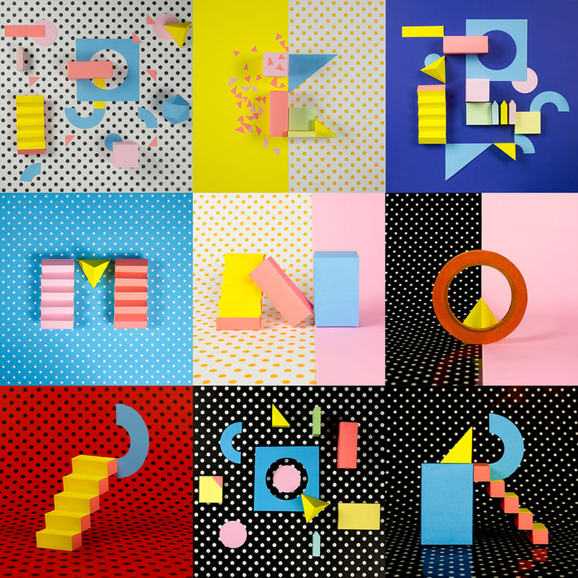 Colorful Paper Craft Alphabet 1