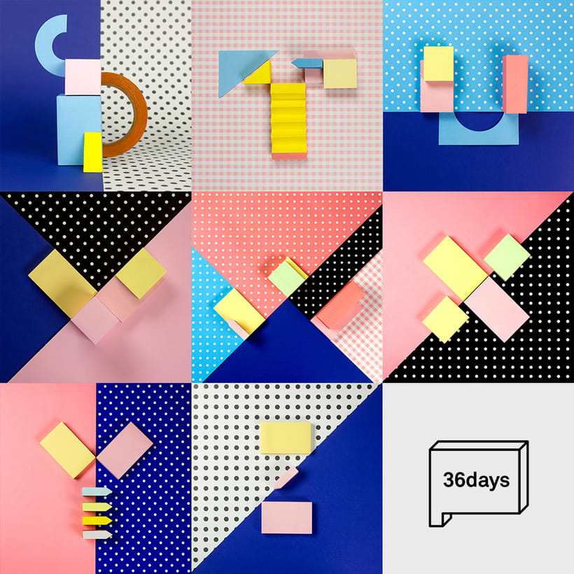 Colorful Paper Craft Alphabet 2