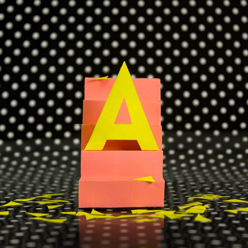 Colorful Paper Craft Alphabet 3