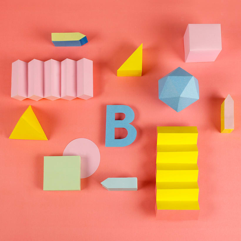 Colorful Paper Craft Alphabet 4