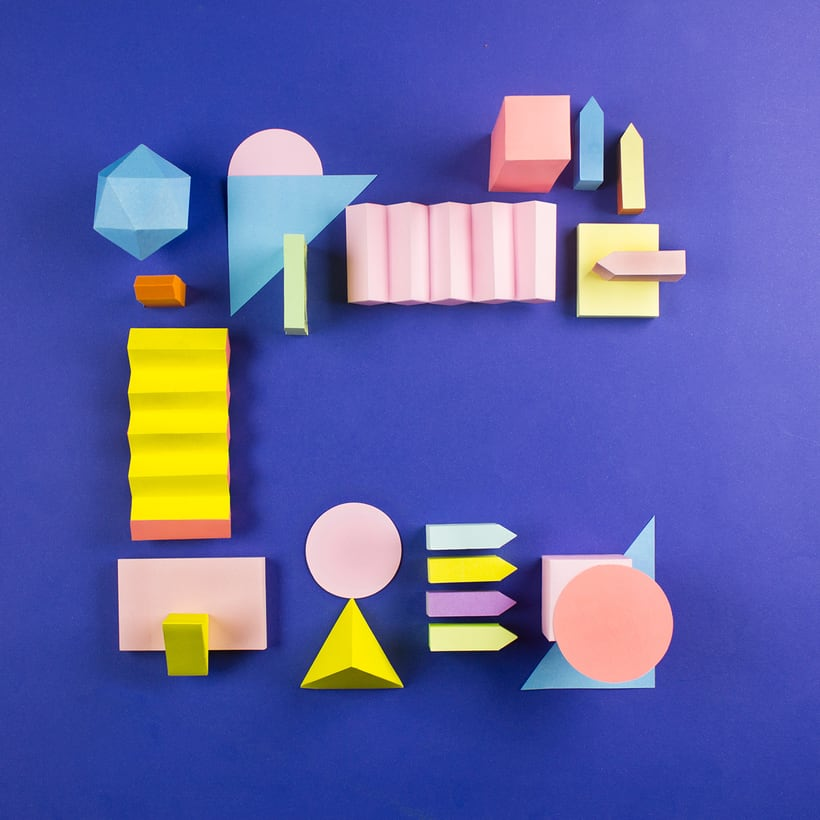 Colorful Paper Craft Alphabet 5