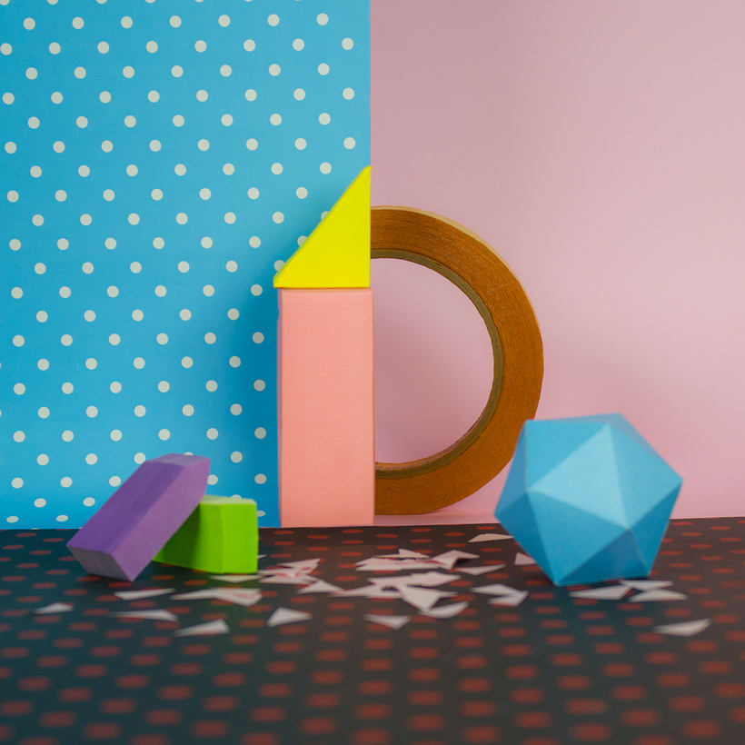 Colorful Paper Craft Alphabet 6