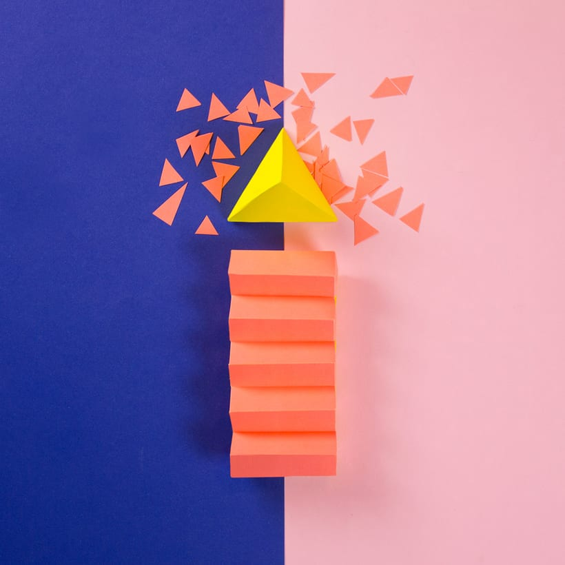 Colorful Paper Craft Alphabet 11