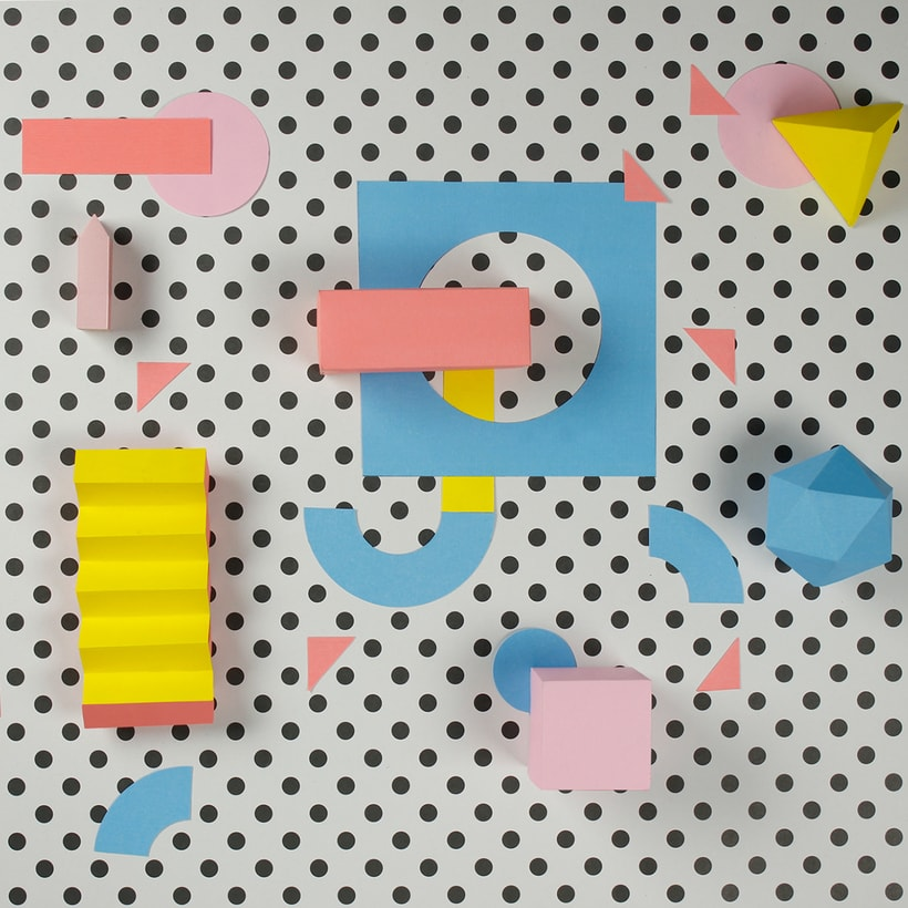 Colorful Paper Craft Alphabet 12