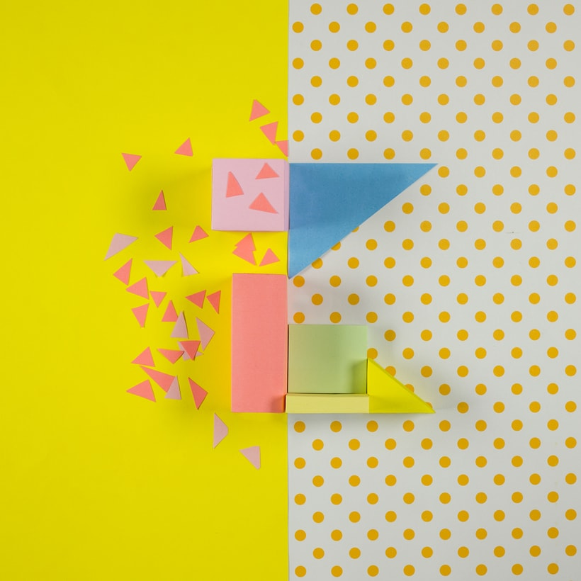 Colorful Paper Craft Alphabet 13
