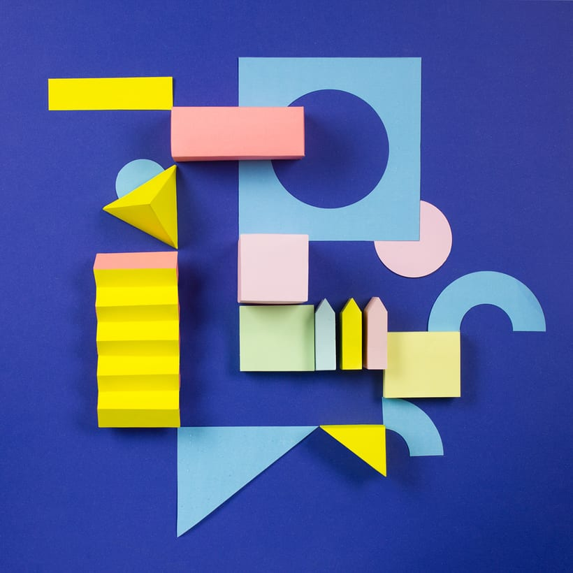 Colorful Paper Craft Alphabet 14