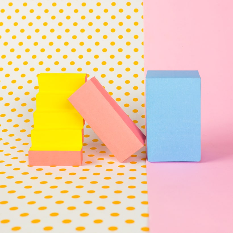 Colorful Paper Craft Alphabet 16