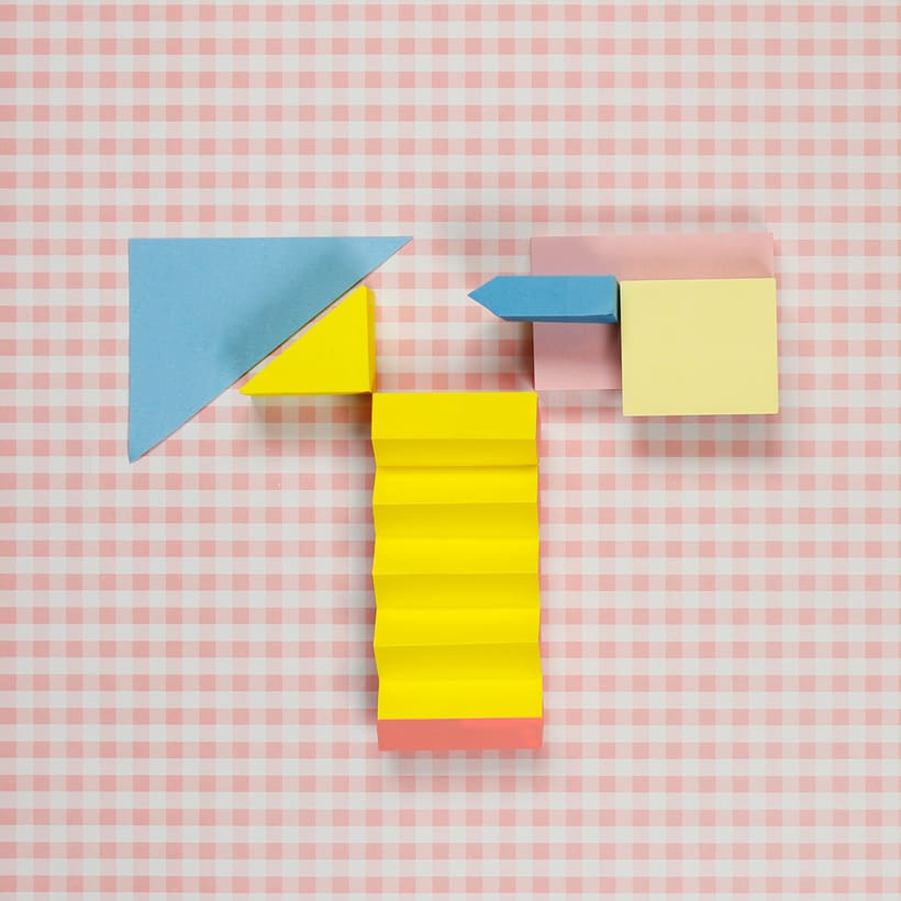 Colorful Paper Craft Alphabet 22