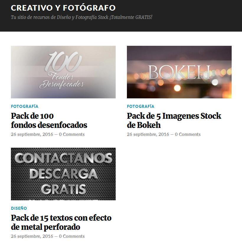 Nueva web de Fotografía de Stock Premium y Diseño Gráfico GRATIS 1
