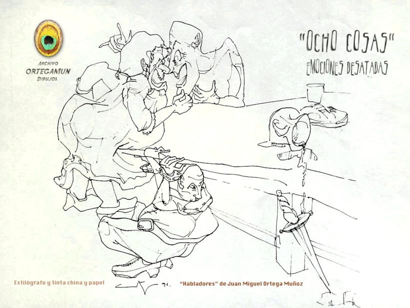 El Cánon de Ortegamun. Serie de dibujos a tinta china sobre papel. 3