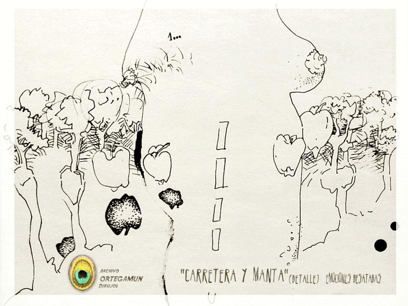 El Cánon de Ortegamun. Serie de dibujos a tinta china sobre papel. 8