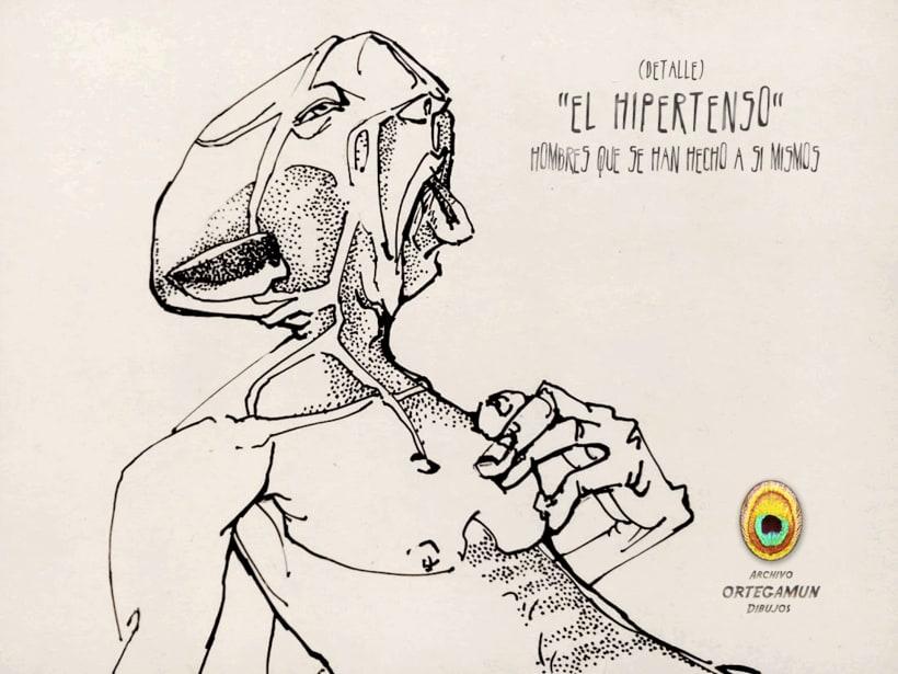 El Cánon de Ortegamun. Serie de dibujos a tinta china sobre papel. 5