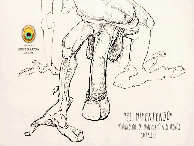 El Cánon de Ortegamun. Serie de dibujos a tinta china sobre papel. 7