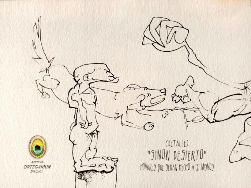 El Cánon de Ortegamun. Serie de dibujos a tinta china sobre papel. 10
