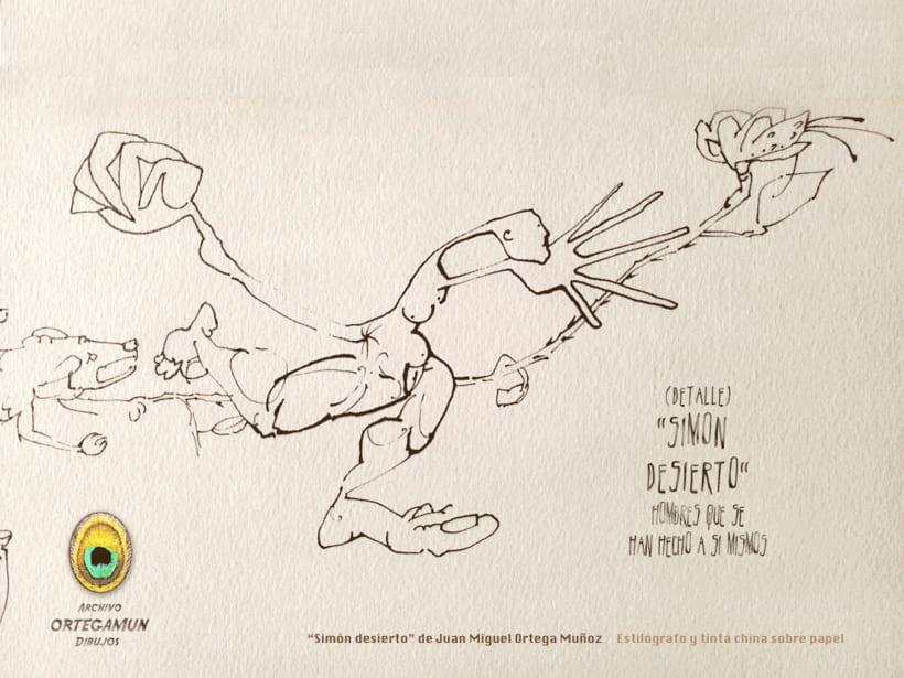 El Cánon de Ortegamun. Serie de dibujos a tinta china sobre papel. 11