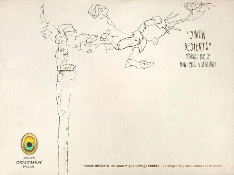El Cánon de Ortegamun. Serie de dibujos a tinta china sobre papel. 9