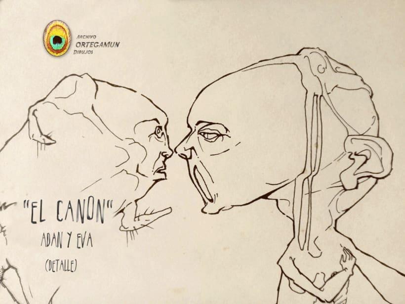 El Cánon de Ortegamun. Serie de dibujos a tinta china sobre papel. 2