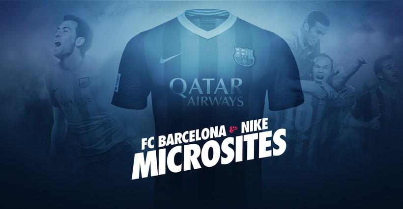 Microsites FCBarcelona & Nike 0
