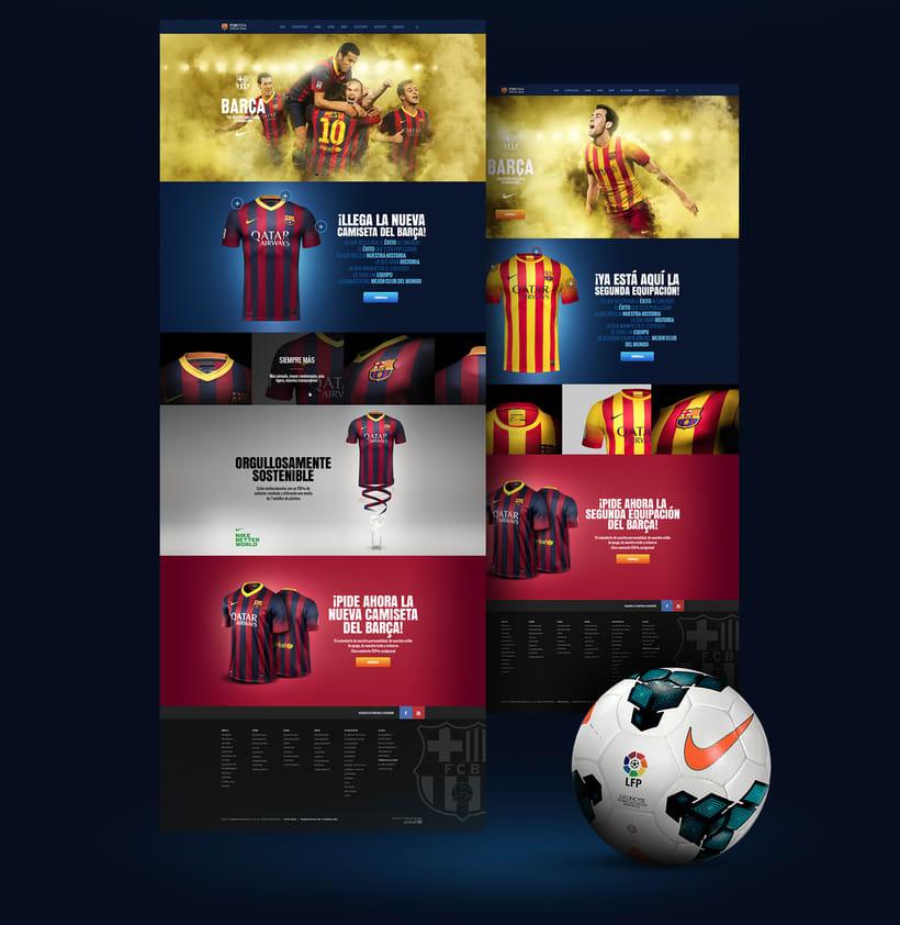 Microsites FCBarcelona & Nike 1