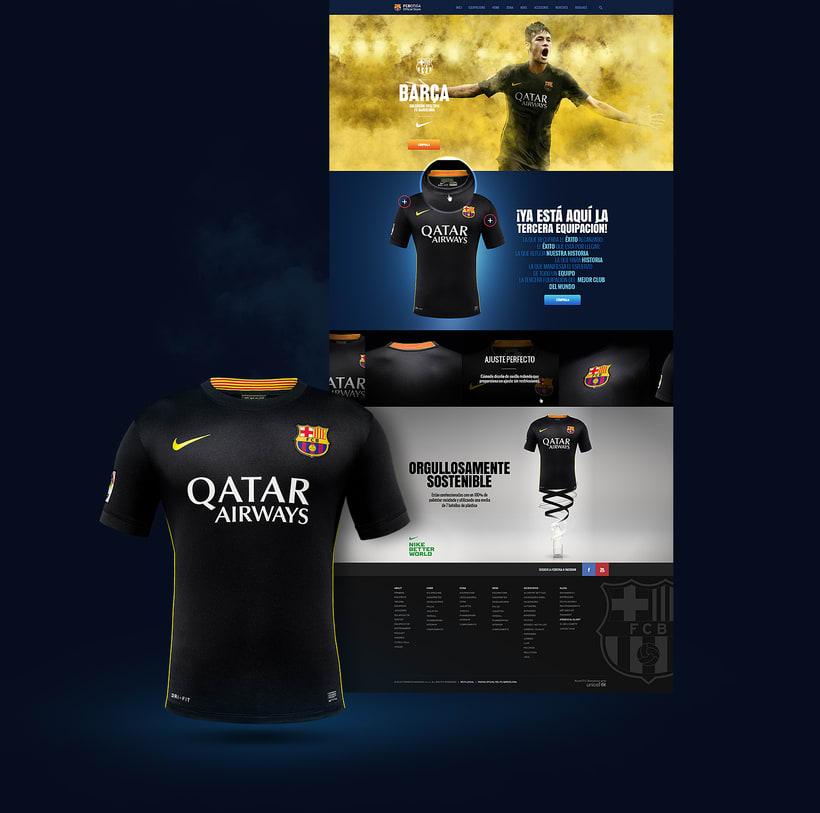 Microsites FCBarcelona & Nike 2