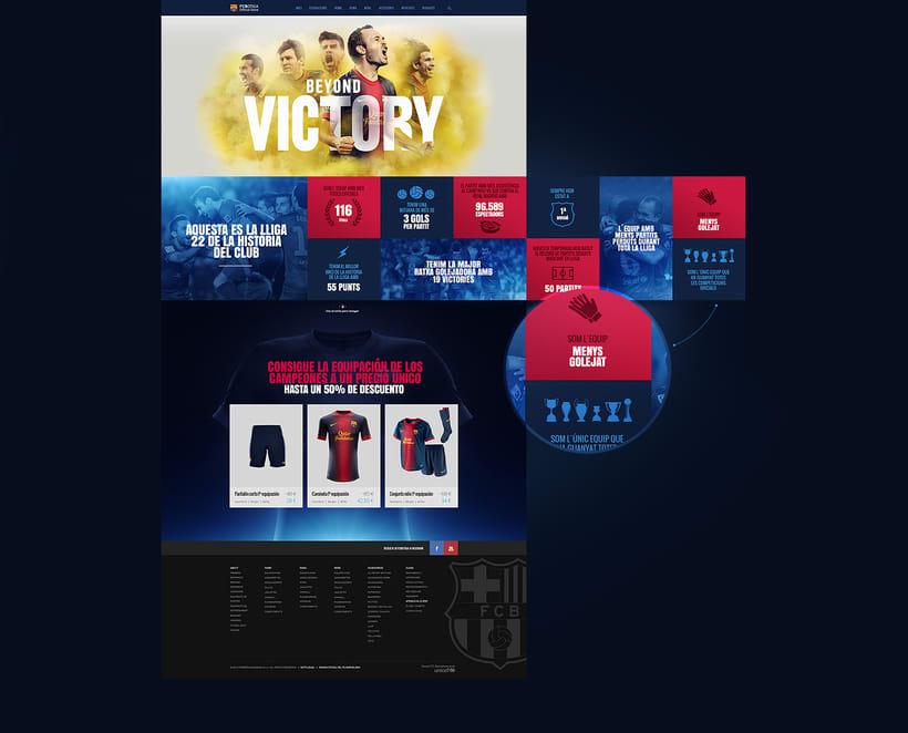 Microsites FCBarcelona & Nike 3