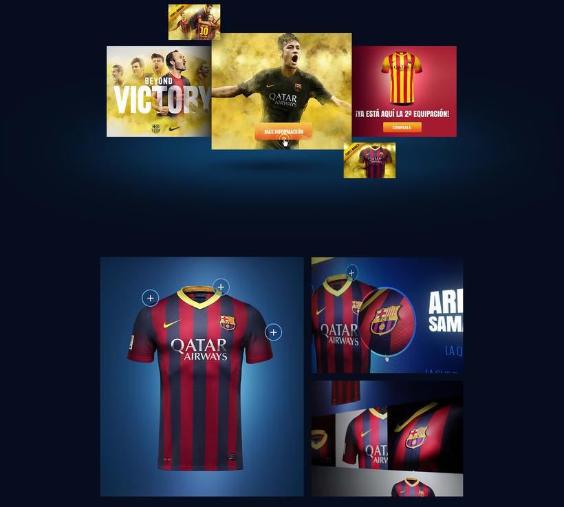 Microsites FCBarcelona & Nike 4
