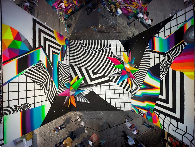 Felipe Pantone: arte urbano con vistas al hiperespacio 3