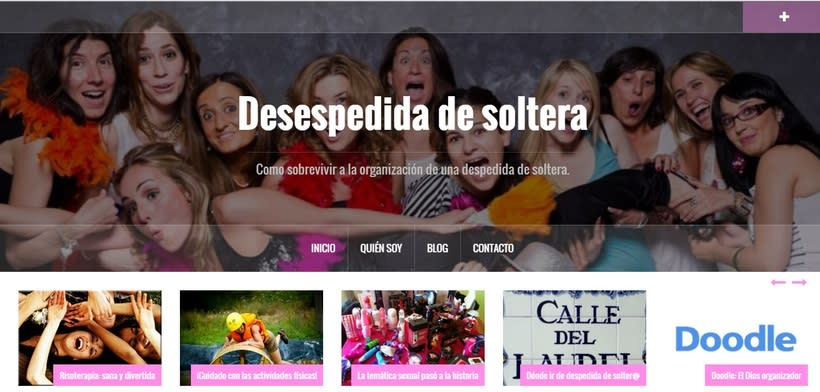 Web Desespedida de Soltera - Wordpress 0