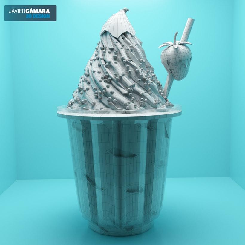 3D Ice Cream modeling 1